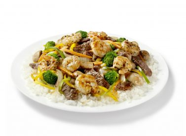 Szechuan Beef And Shrimp With Rice Photographed On Hasselblad H3d2 39mb Camera